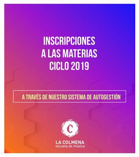 Inscripciones a las materias para el ciclo 2019