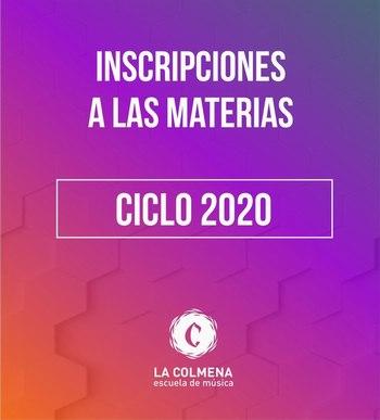 Inscripciones a las materias 2020.
